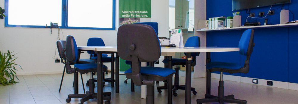Sala riunioni della sede aziendale di Alping Italia